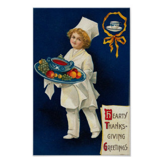 ヴィンテージの感謝祭の挨拶 ポスター