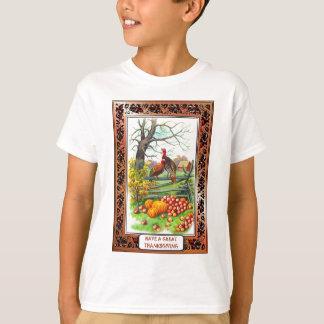 ヴィンテージの感謝祭を祝って下さい Tシャツ