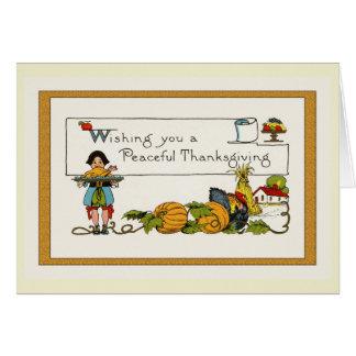 ヴィンテージの感謝祭 カード