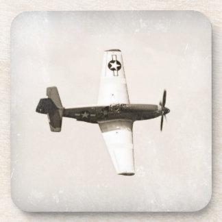 ヴィンテージの戦闘機の飛行機のプラスチックコースター(6) コースター