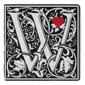 """ヴィンテージの手紙""""W """" トリベット"""