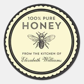 ヴィンテージの手製の蜂蜜のステッカー ラウンドシール