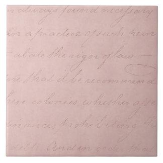 ヴィンテージの文字の植民地の住民のばら色の硫酸紙 タイル