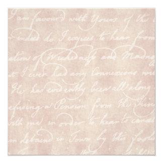 ヴィンテージの文字の植民地原稿の硫酸紙 カード