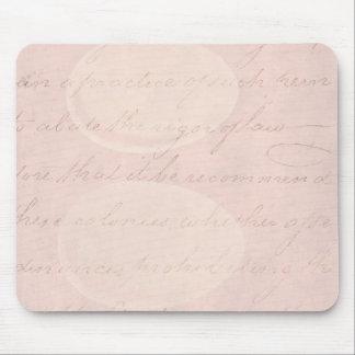 ヴィンテージの文字の植民地原稿の硫酸紙 マウスパッド