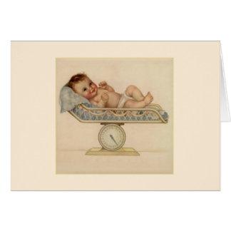 ヴィンテージの新生児の挨拶状 カード