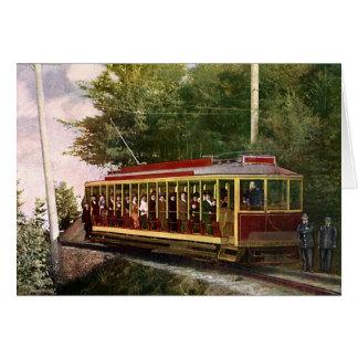 ヴィンテージの旅行および交通機関の電気トロリー カード