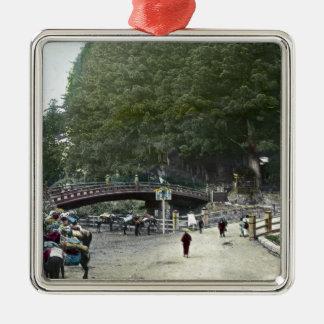 ヴィンテージの日本ので赤い橋東京 メタルオーナメント
