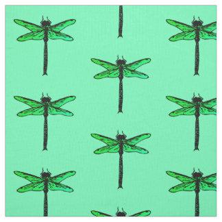 ヴィンテージの日本のなトンボ、エメラルドグリーン ファブリック
