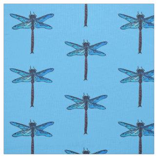 ヴィンテージの日本のなトンボ、サファイアの青 ファブリック