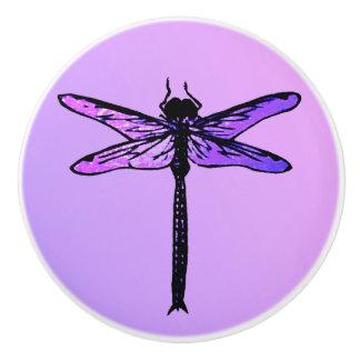 ヴィンテージの日本のなトンボ、紫色の紫色 セラミックノブ