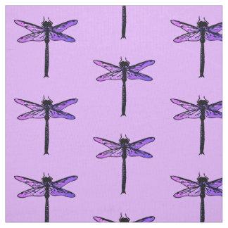 ヴィンテージの日本のなトンボ、紫色の紫色 ファブリック