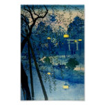 ヴィンテージの日本のな均等になるWoodblockの芸術Ukiyo-E ポスター