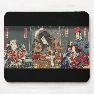 ヴィンテージの日本のな武士の戦士 マウスパッド