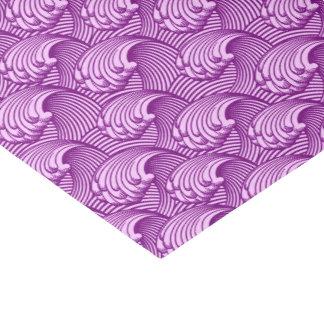 ヴィンテージの日本のな波、たそがれの紫色および薄紫 薄葉紙