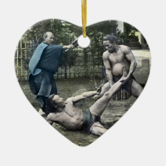 ヴィンテージの日本のな相撲の伝統的な相撲 セラミックオーナメント