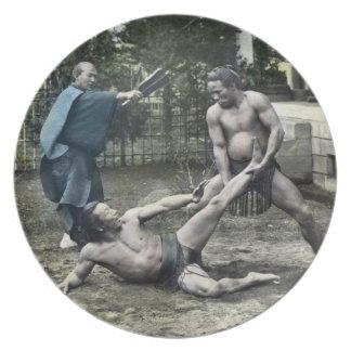ヴィンテージの日本のな相撲の昔ながらのな相撲 プレート