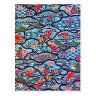 ヴィンテージの日本のな着物の織物(Bingata) ポストカード