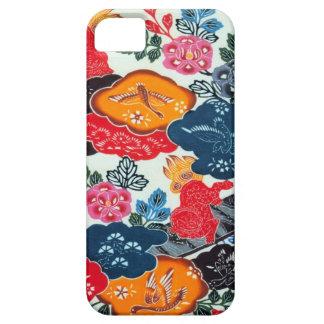 ヴィンテージの日本のな着物の織物(Bingata) iPhone SE/5/5s ケース