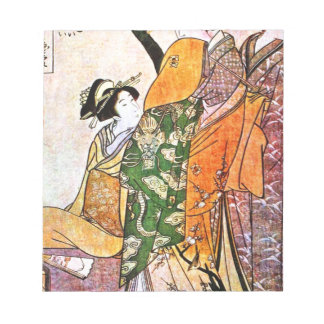 ヴィンテージの日本のな芸者のアートワーク ノートパッド