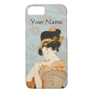 ヴィンテージの日本のな芸者女の子の芸能人 iPhone 8/7ケース