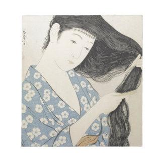 ヴィンテージの日本のな芸者女の子の芸術 ノートパッド