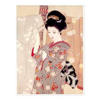ヴィンテージの日本のな芸術の郵便はがき ポストカード