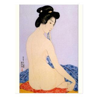 ヴィンテージの日本のな芸術の郵便はがき 葉書き