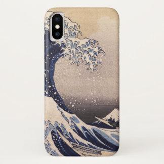ヴィンテージの日本のな芸術、Hokusai著素晴らしい波 iPhone X ケース