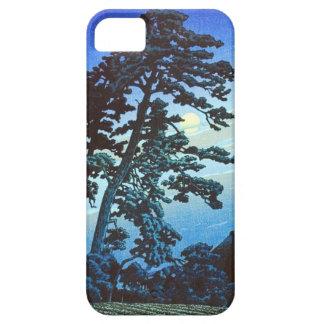 ヴィンテージの日本のな農場w/Tree Woodblockの芸術Ukiyo-e iPhone SE/5/5s ケース