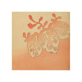 ヴィンテージの日本人の紅葉 ウッドウォールアート