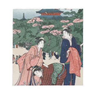 ヴィンテージの日本人の芸術 ノートパッド