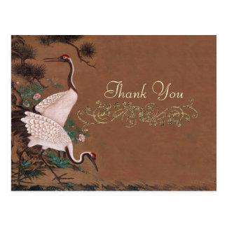 ヴィンテージの日本人クレーン結婚は感謝していしています ポストカード