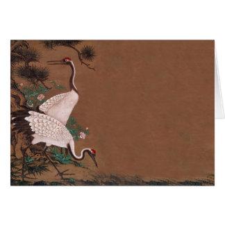 ヴィンテージの日本語は結婚式招待状を伸ばします カード