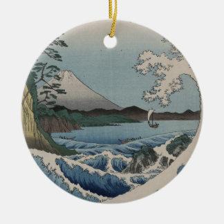 ヴィンテージの日本語Sattaの海 セラミックオーナメント