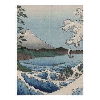 ヴィンテージの日本語Sattaの海 14 X 19.1 インビテーションカード