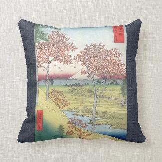 ヴィンテージの日没の丘Meguro Hiroshige クッション