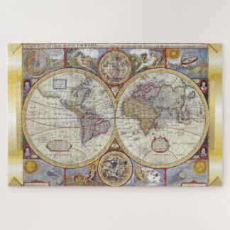 ヴィンテージの旧世界の地図のジグソーパズル ジグソーパズル