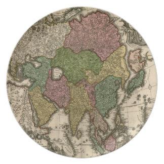 ヴィンテージの旧世界の地図のプレート プレート