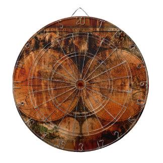 ヴィンテージの旧世界の地図デザイナー投げ矢板 ダーツボード