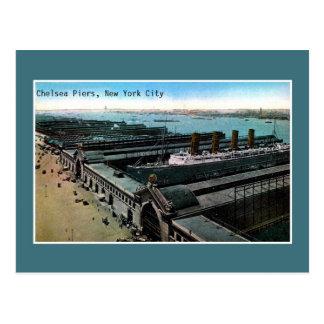 ヴィンテージの旧式なチェルシー桟橋ニューヨークシティ ポストカード