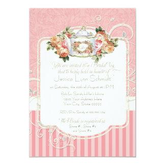 ヴィンテージの旧式なバラの花花束のモダンの渦巻 カード
