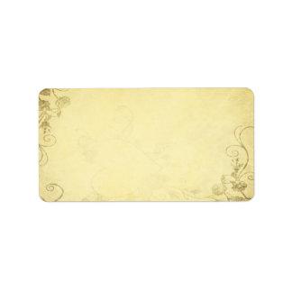 ヴィンテージの旧式な一見の結婚式の宛名ラベル ラベル