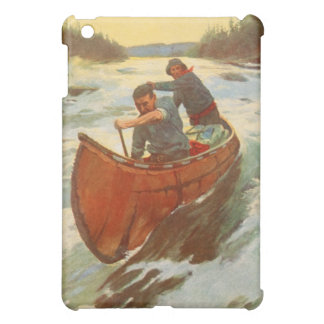 ヴィンテージの旧式な人のカヌーの川の急流オリバーKemp iPad Mini カバー