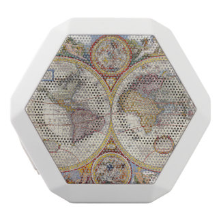 ヴィンテージの旧式な旧世界の地図の地図作成 ホワイトBluetoothスピーカー