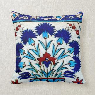 ヴィンテージの旧式な花柄の抽象芸術のトルコ人のタイル クッション