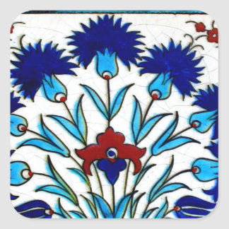 ヴィンテージの旧式な花柄の抽象芸術のトルコ人のタイル スクエアシール