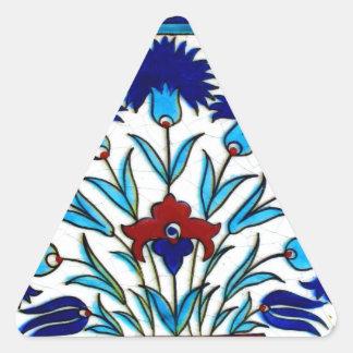 ヴィンテージの旧式な花柄の抽象芸術のトルコ人のタイル 三角形シール