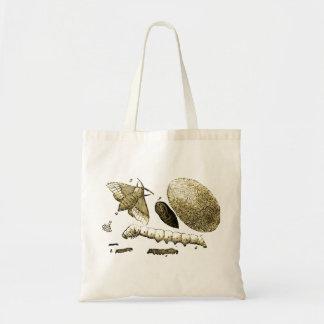 ヴィンテージの昆虫のイメージ のカイコ のガ トートバッグ