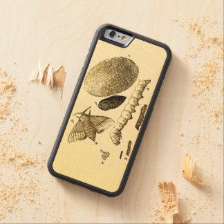 ヴィンテージの昆虫のイメージ のカイコ のガ CarvedメープルiPhone 6バンパーケース